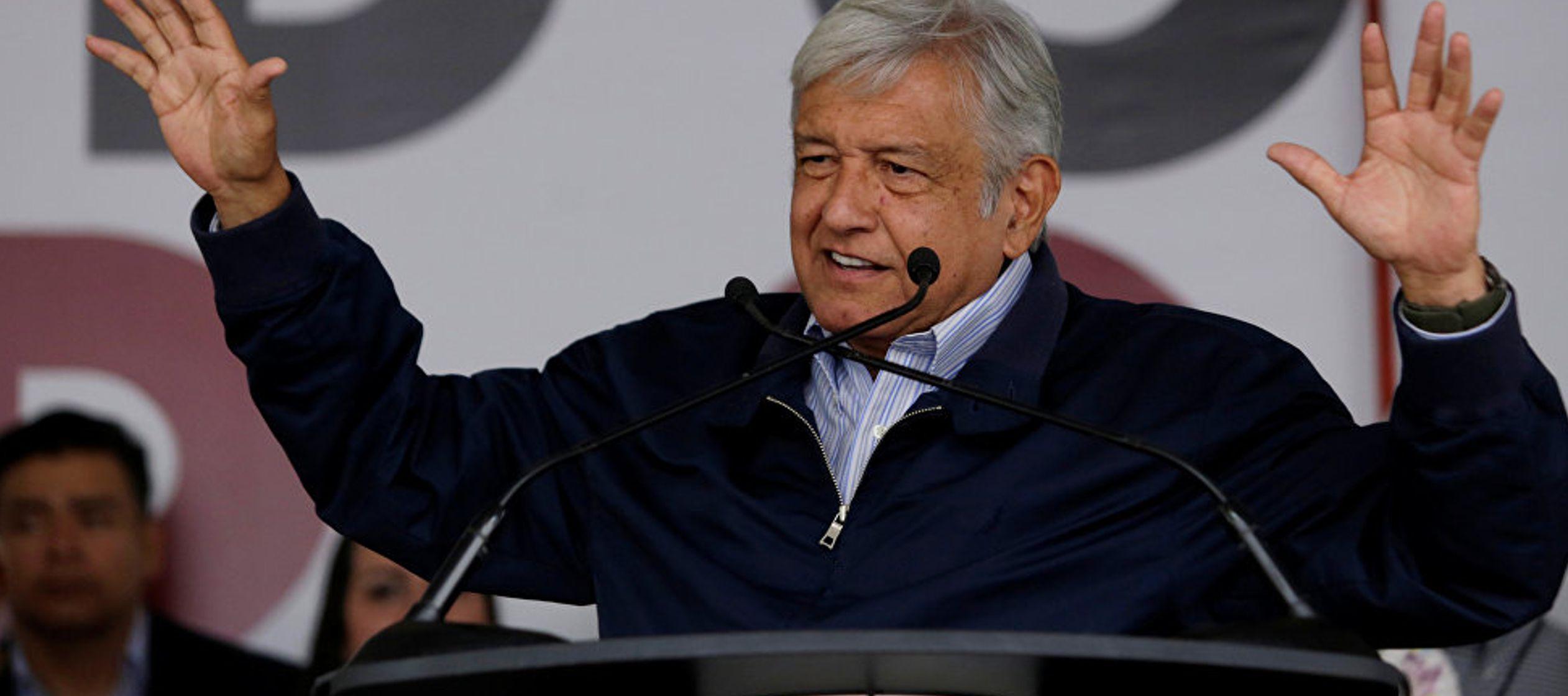 López Obrador construyó, para ganar las elecciones, una plataforma política...