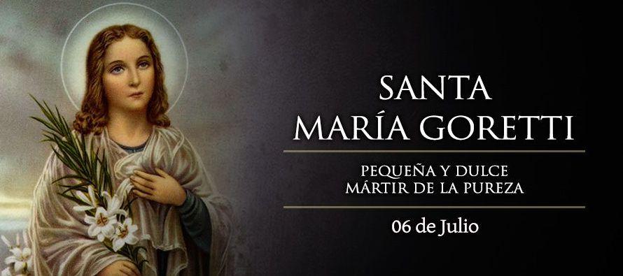 Santa María Goretti fue santa no por el hecho de tener una muerte injusta y violenta, sino...