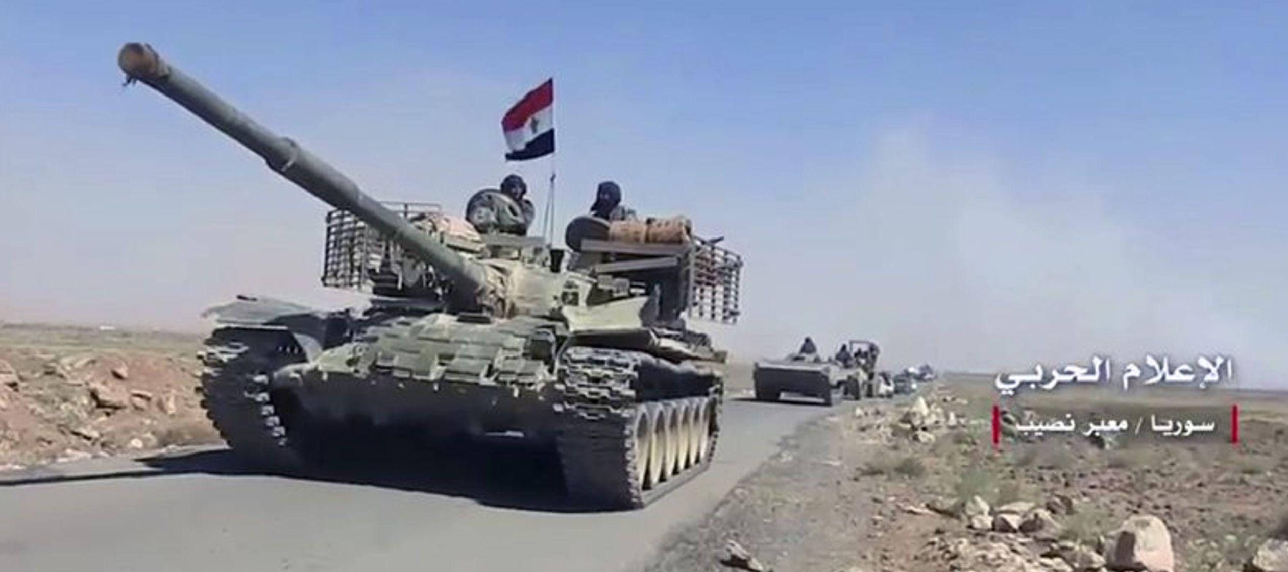 El gobierno está librando una ofensiva de gran escala en el sur de Siria, donde...