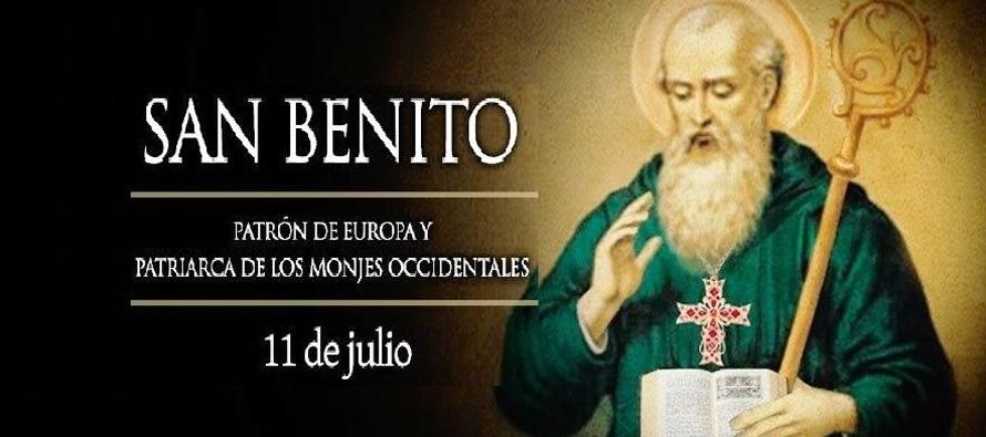 Benito fue agraciado con dones diversos, entre otros, el de milagros y el de profecía; era...