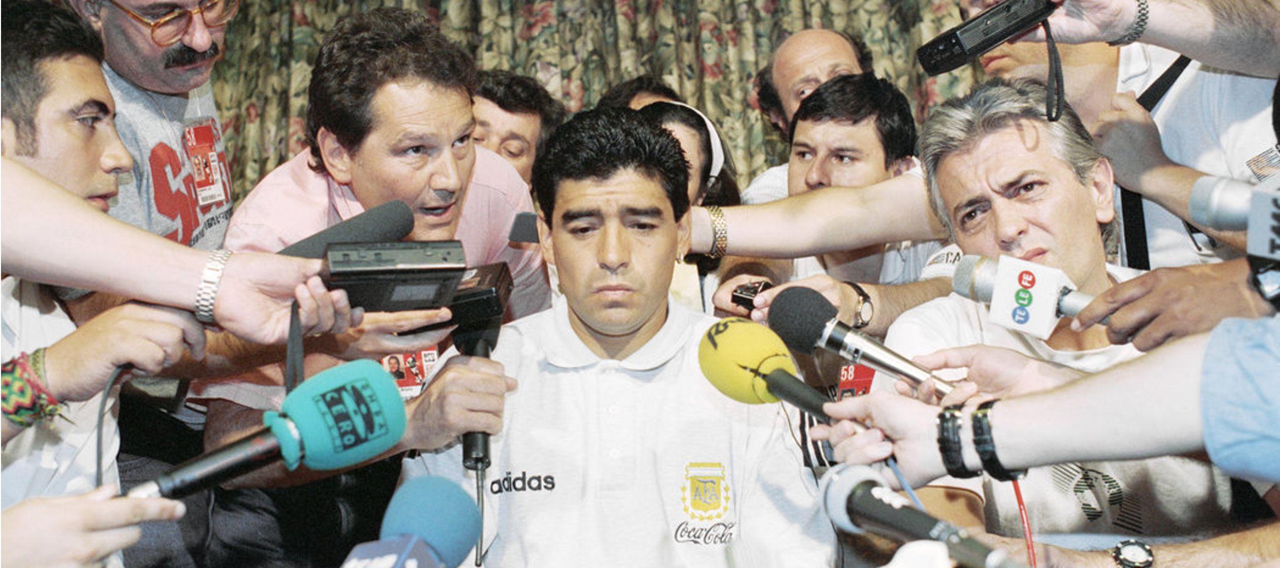 Cuando la prueba dio positivo y quedó afuera del Mundial, Maradona definió el momento...