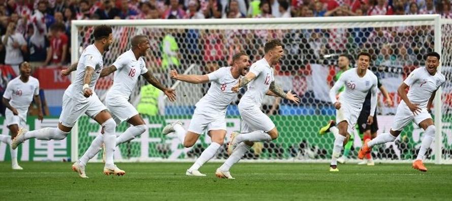 El gol, un golazo que permitía soñar a los 'Tres Leones' con la final que...