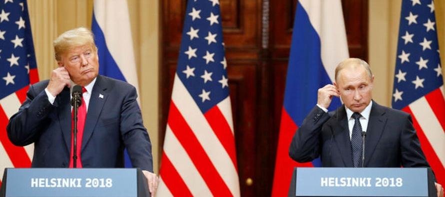 Donald Trump, que en los últimos días ha atacado a la OTAN, al Reino Unido y la...