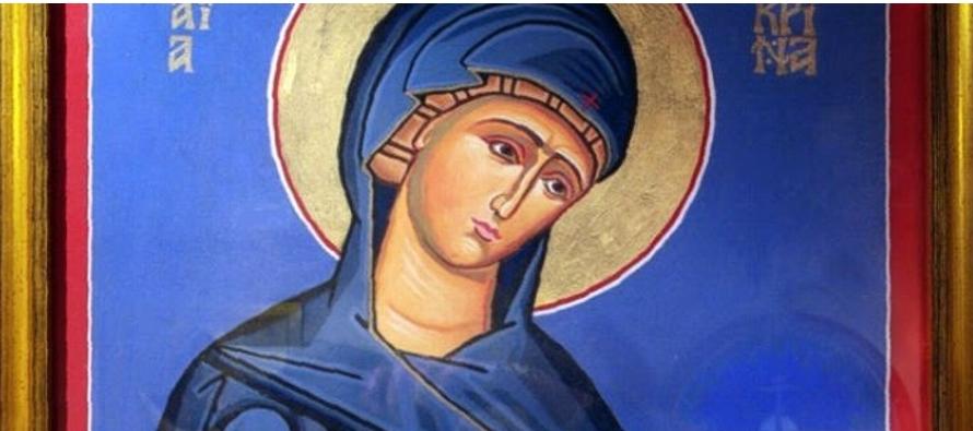 Macrina era la mayor de los diez hijos de los santos Basilio y de Emelia la mayor, y hermana de los...