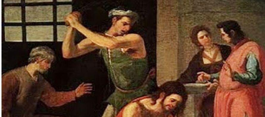 Herodes había prendido a Juan, le había encadenado y puesto en la cárcel, por...