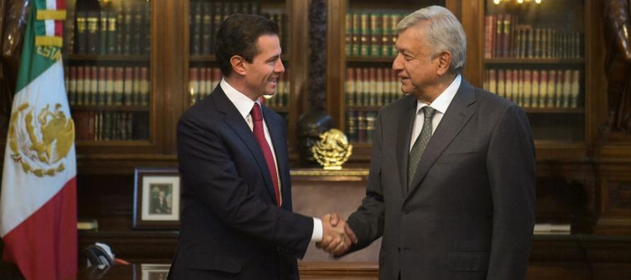 El encuentro de Peña Nieto (2012-2018) con López Obrador (2018-2024) ha marcado el...