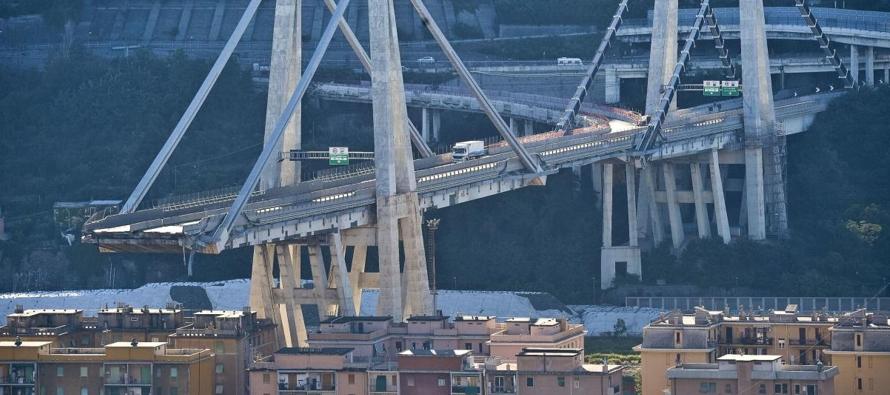 El ingeniero Riccardo Morandi, diseñador del puente realizó entonces un informe, que...
