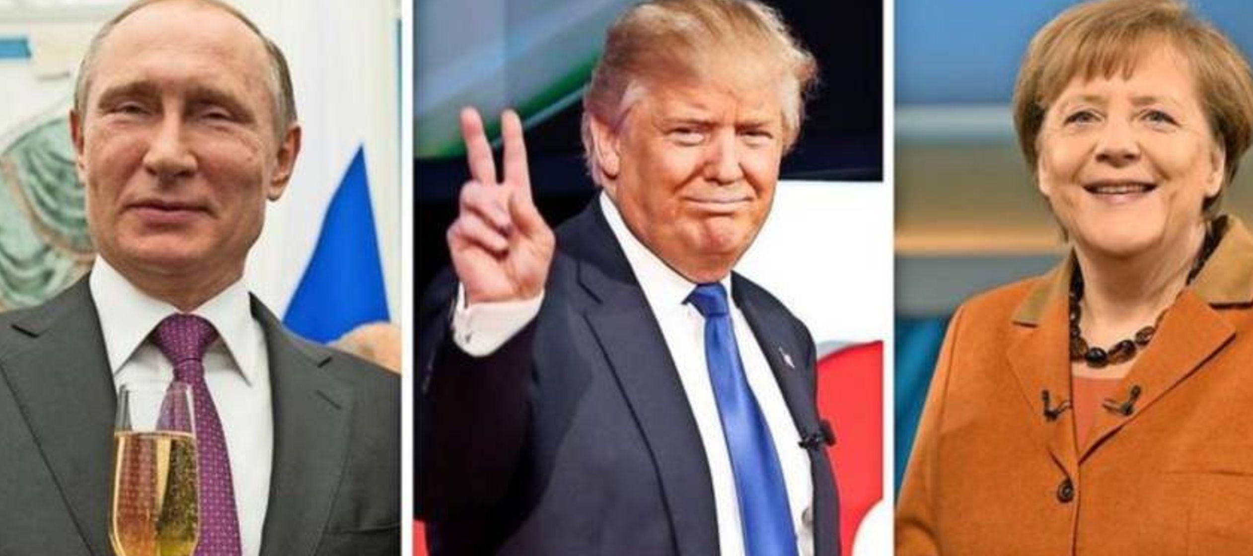 Angela Merkel y Vladimir Putin, una pareja improbable unida por Donald Trump