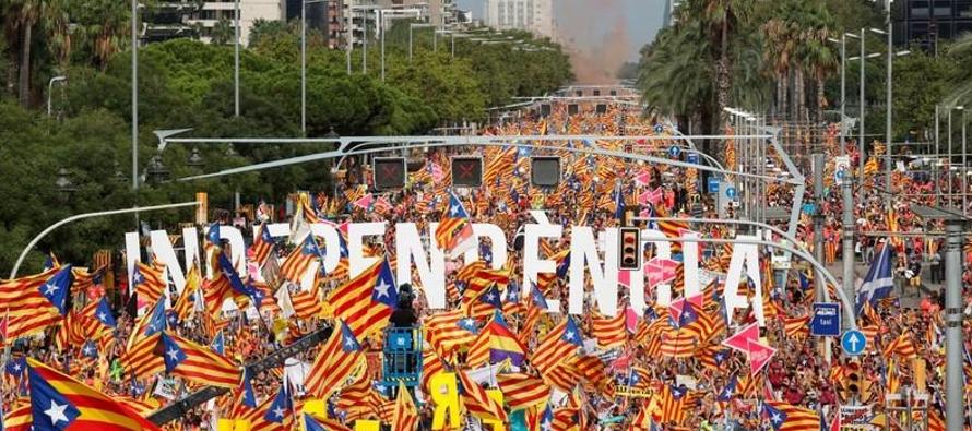 La Diagonal, una de las principales arterias de la capital catalana donde se realizó la...