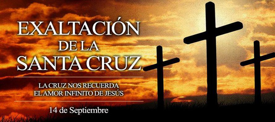 La Iglesia, en el día de la fiesta de la exaltación de la Santa Cruz, celebra la...