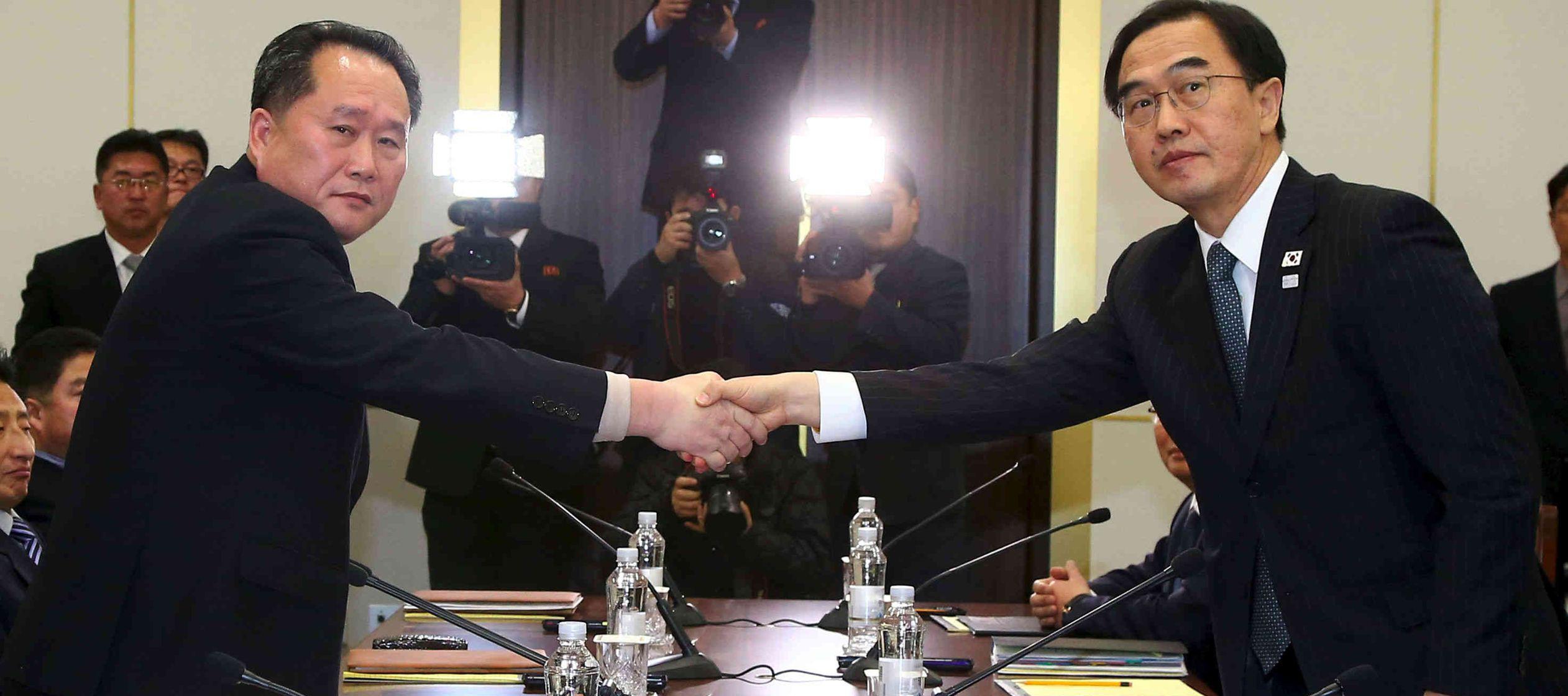 La reunión ha arrancado a las 10.00 horas (hora local) en Tongilgak, en el lado norcoreano...