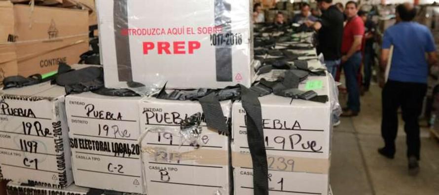 Así certificaron paquetes electorales de Puebla para su traslado a la CDMX