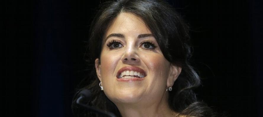 """Lewinsky dijo el viernes en el programa """"Good Morning America"""" de ABC que la..."""