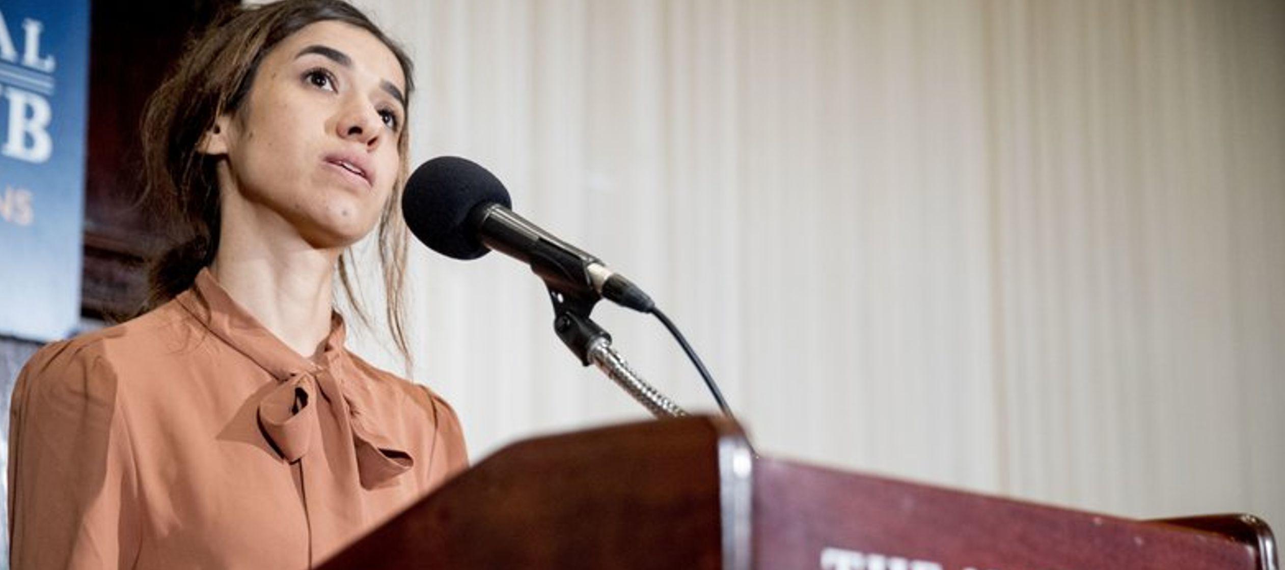La iraquí Nadia Murad dijo en su primera conferencia de prensa desde que se anunció...