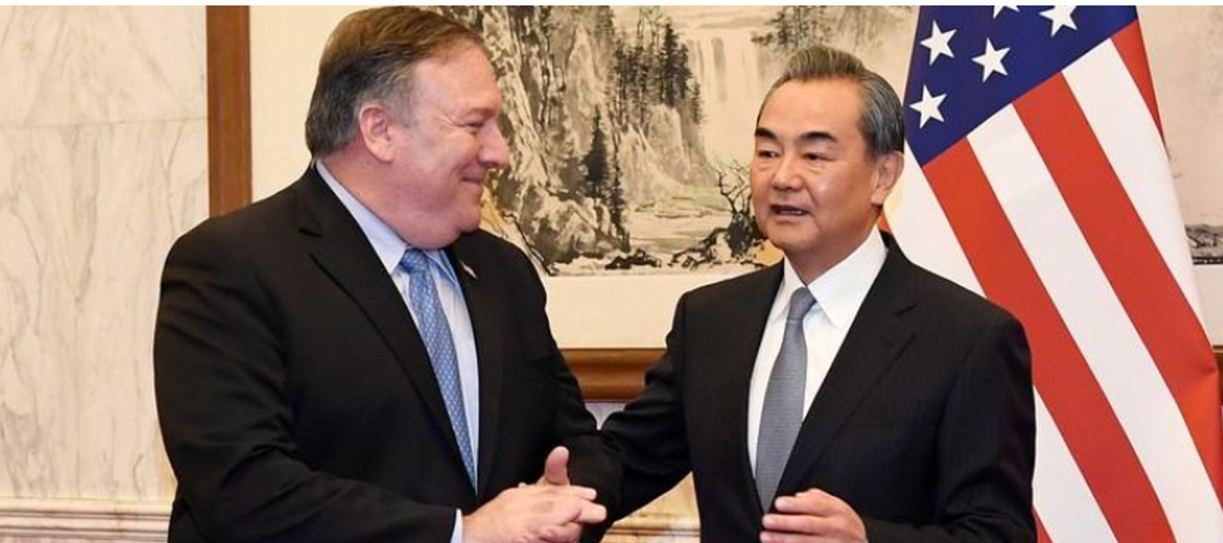 Pompeo y Wang discreparon abiertamente sobre quién había cancelado un diálogo...