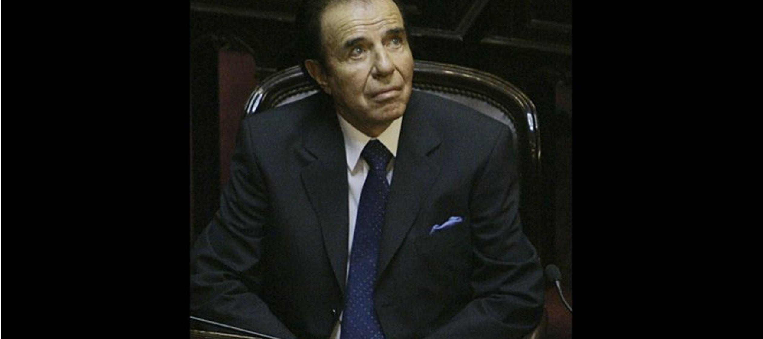 Menem afirmó que era víctima de una acusación política y el exministro...
