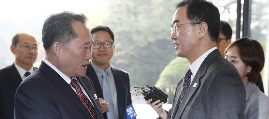 Corea del Sur dijo que las negociaciones del lunes tienen la meta de llegar a los acuerdos de paz...