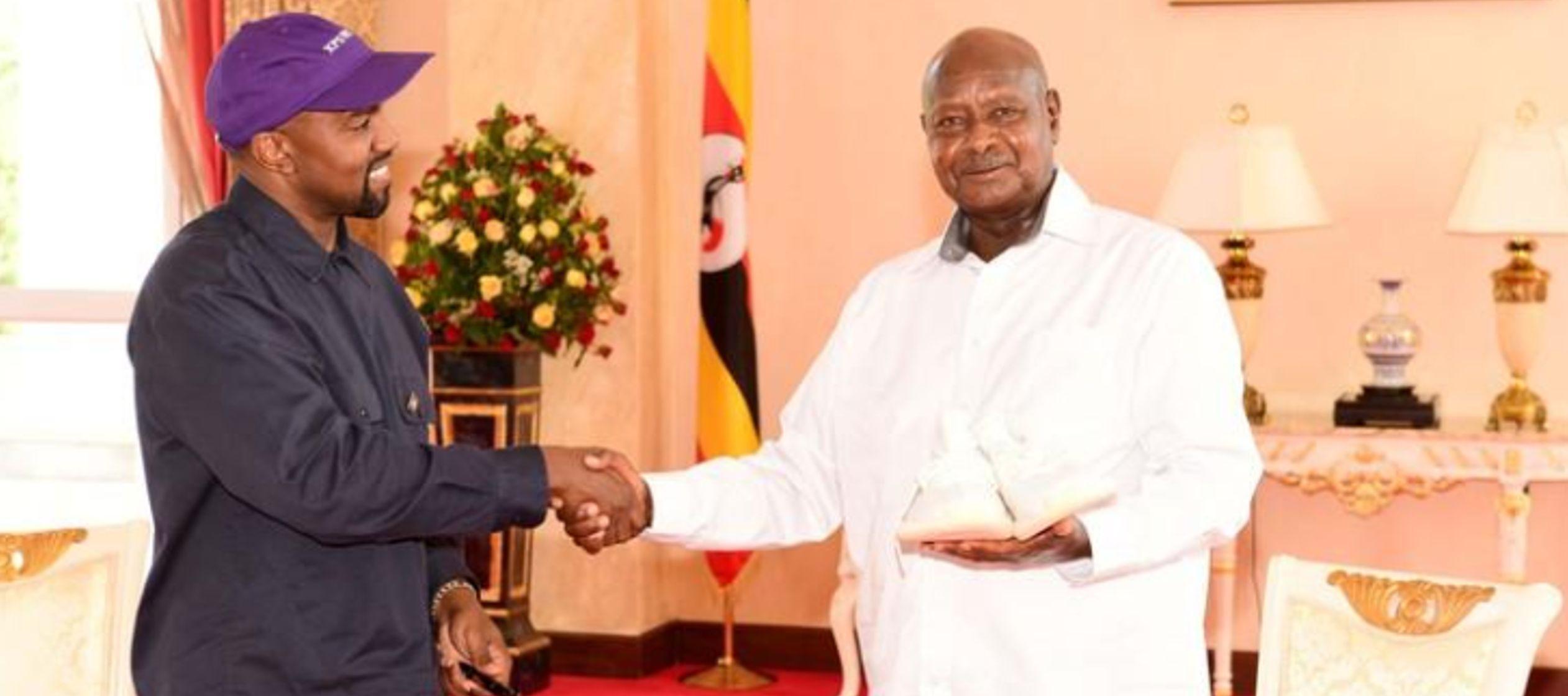 Resultado de imagen para Kanye West se reúne con presidente de Uganda