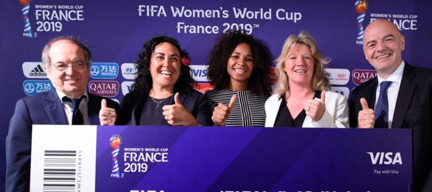FIFA anuncia comienzo de venta de entradas para Mundial femenino 2019