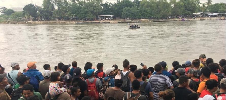 México responde a amago de Trump contra caravana migrante; envía 200 policías a Chiapas