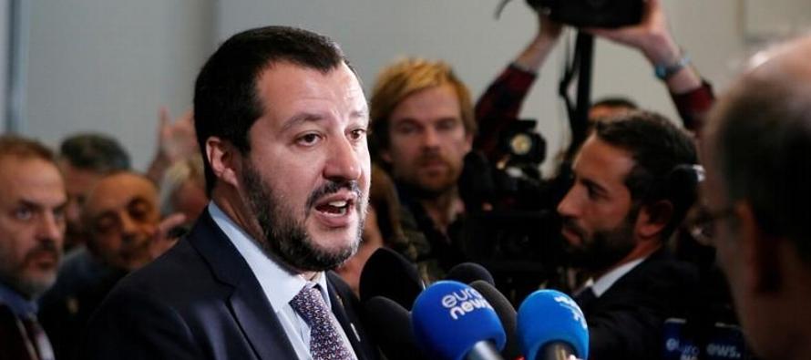 Salvini regresará a Roma para resolver fricciones en el Gobierno de coalición italiano