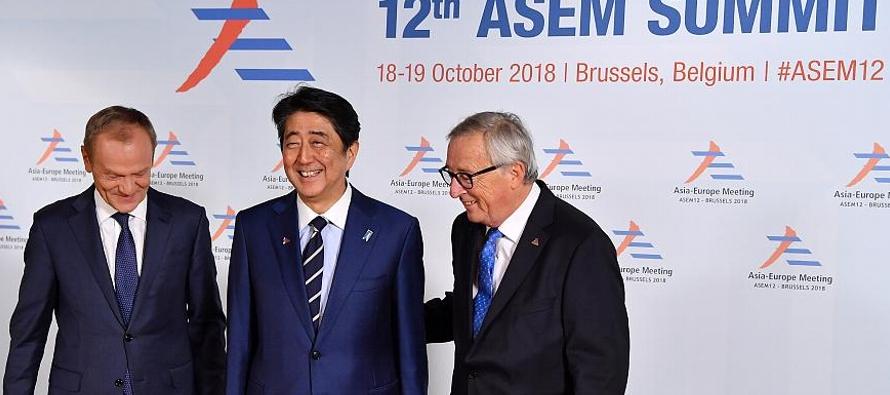 La canciller de Alemania, Angela Merkel, señaló que la Cumbre Asia-Europa en Bruselas...