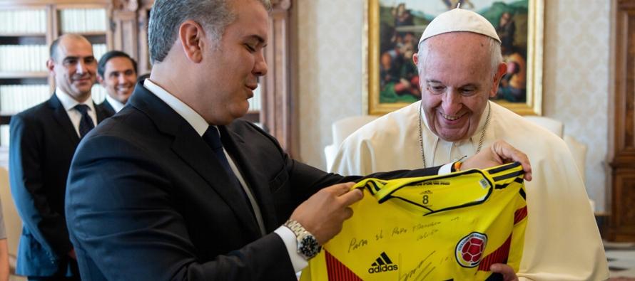Colombia: Visita del Presidente Iván Duque Márquez al Papa Francisco