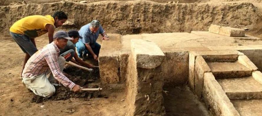 Los artefactos aparecieron en una excavación en el barrio capitalino de Matariya, dijo el...