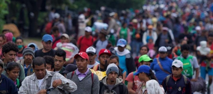 La mayoría de los migrantes dicen que están huyendo de la violencia de las pandillas...
