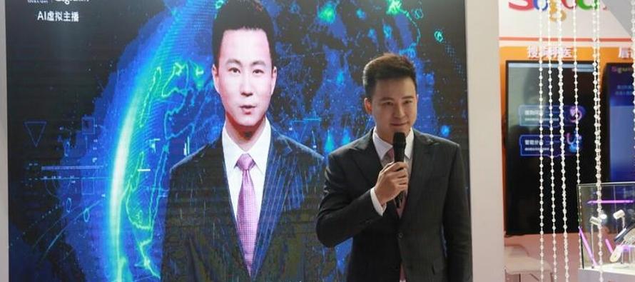 El presentador con inteligencia artificial desarrollado por la agencia estatal Xinhua y la firma...