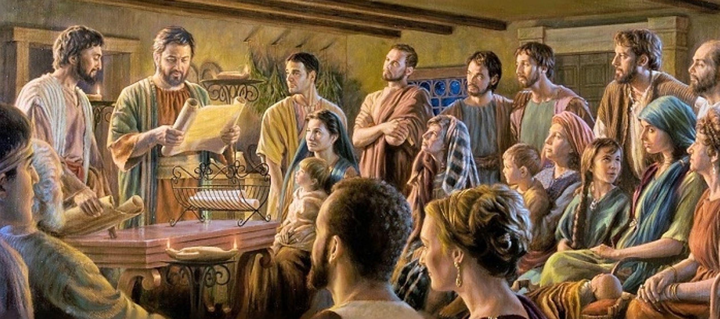 Al final de este pasaje Lucas nos cuenta que los primeros discípulos, con su testimonio de...