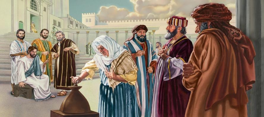 La generosidad de la viuda pobre es una buena lección para nosotros, los discípulos...