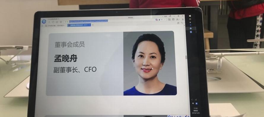 La directora financiera de Huawei, Meng Wanzhou, enfrenta una posible extradición a Estados...
