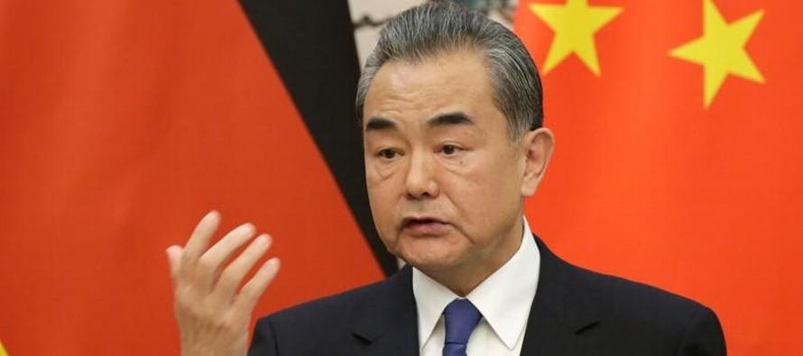 El consejero de Estado, Wang Yi, aseguró en un comunicado que las conversaciones sobre las...