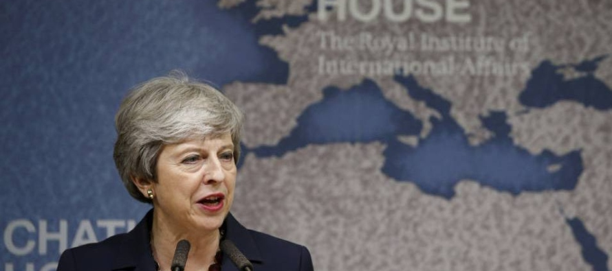May habló en Chatham House, la sede del Real Instituto de Asuntos Internacionales, donde en...