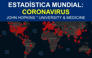 ESTAD�STICA MUNDIAL: CORONAVIRUS | JOHN HOPKINS * UNIVERSITY & MEDICINE