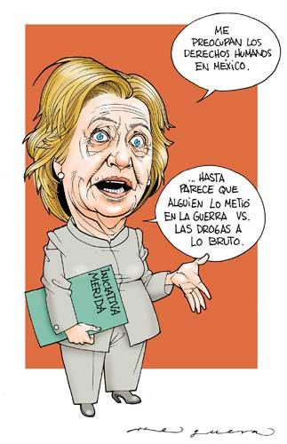 Hillary indignada