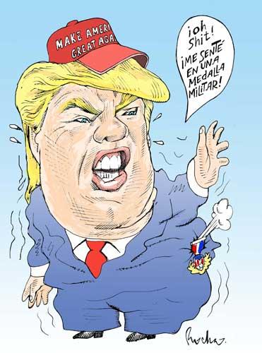 Trump se desinfla