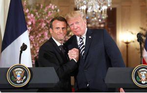 Donald Trump, y su homólogo francés, Emmanuel Macron, brindaron por su inesperada amistad en una cena de Estado organizada por Melania Trump, en honor al dirigente galo.