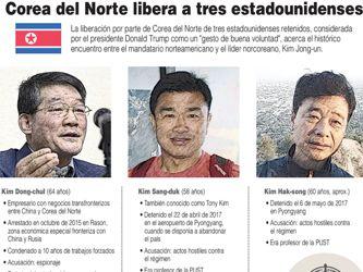 Llegan a Washington los tres estadounidenses liberados por Corea del Norte