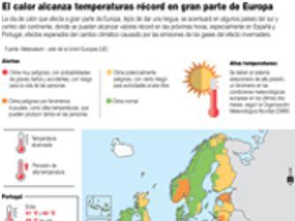 Así se padecen las temperaturas récord en cuatro continentes